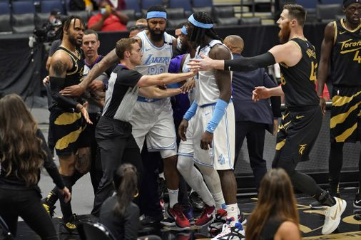 Three suspended in Lakers-Raptors brawl - The Boston Globe