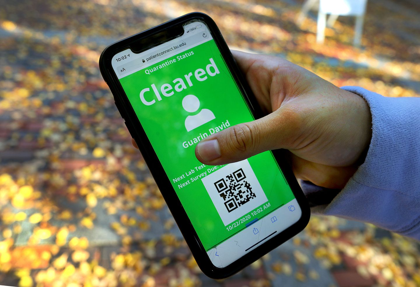 Starting Thursday, BU students are required to show a green badge – that can be downloaded on a school website using their name and student ID – that they have tested negative for COVID-19 before they can enter certain public spaces on campus like the dining hall.
