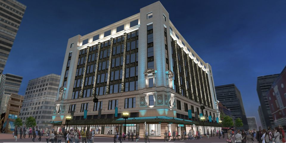 A rendering of the exterior of the new Primark department store in Downtown Crossing.