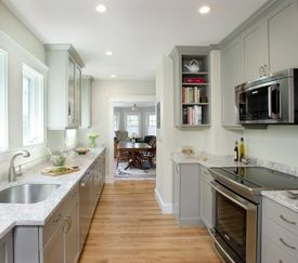 Homeowners Jim and Deb Miller returned from a vacation in Florida to this new kitchen.