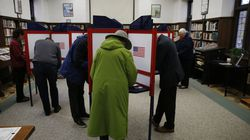 Voters filled out their ballots at Newton's Hyde Community Center during a local election in 2019.