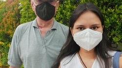 Megan Slattery and her father, Leighton Slattery, are navigating coronavirus restrictions in Jakarta, Indonesia.
