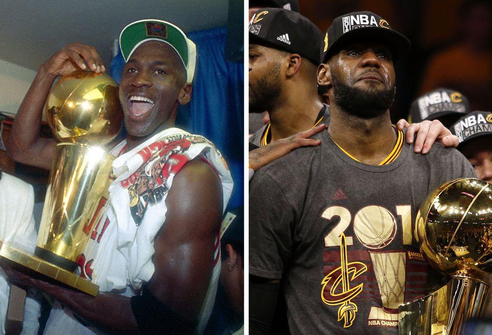 Michael Jordan and LeBron James.