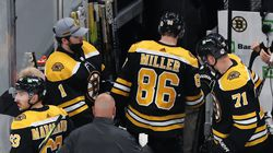 Kevan Miller departed after taking a hit in Game 4 against the Capitals and never returned to the Bruins' lineup in the playoffs.