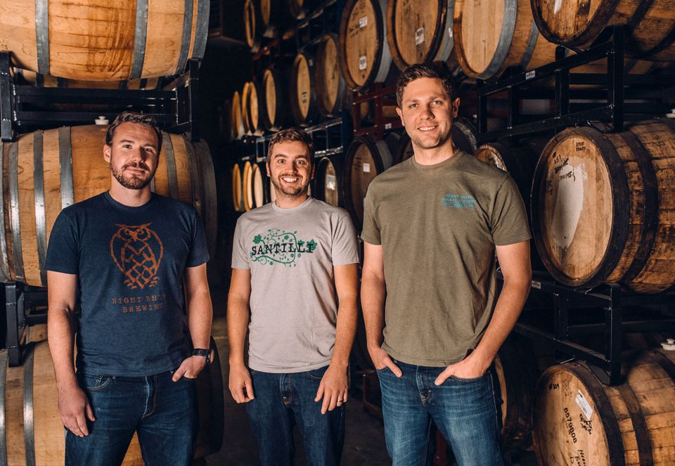 Night Shift Distributing founders (from left) Mike O'Mara, Rob Burns, and Michael Oxton.