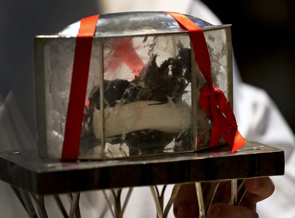 The heart of St. Padre Pio.