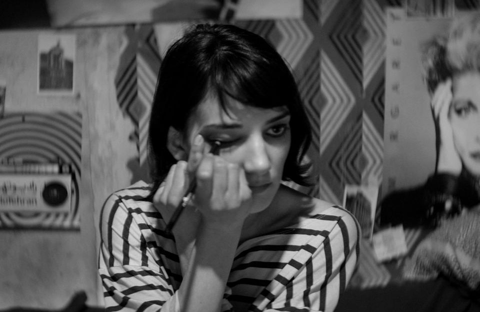 """Sheila Vand stars in """"A Girl Walks Home Alone at Night,"""" directed by Ana Lily Amirpour."""