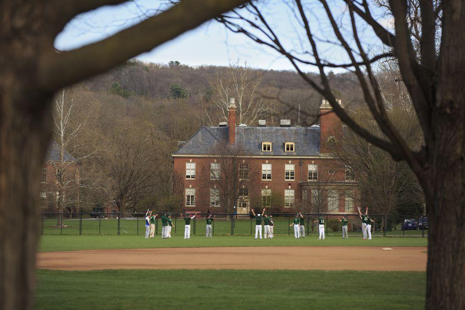 The campus of Deerfield Academy in Deerfield, Mass.
