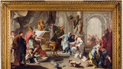 """Giovanni Battista Pittoni the younger's circa 1720s painting """"Hannibal Swearing Revenge against the Romans"""" is among the works displayed in """"What the Nazis Stole from Richard Neumann (and the Search to Get It Back)"""" at the Worcester Art Museum."""