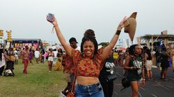 Sheena Collier at the Afrochella Festival in Ghana.