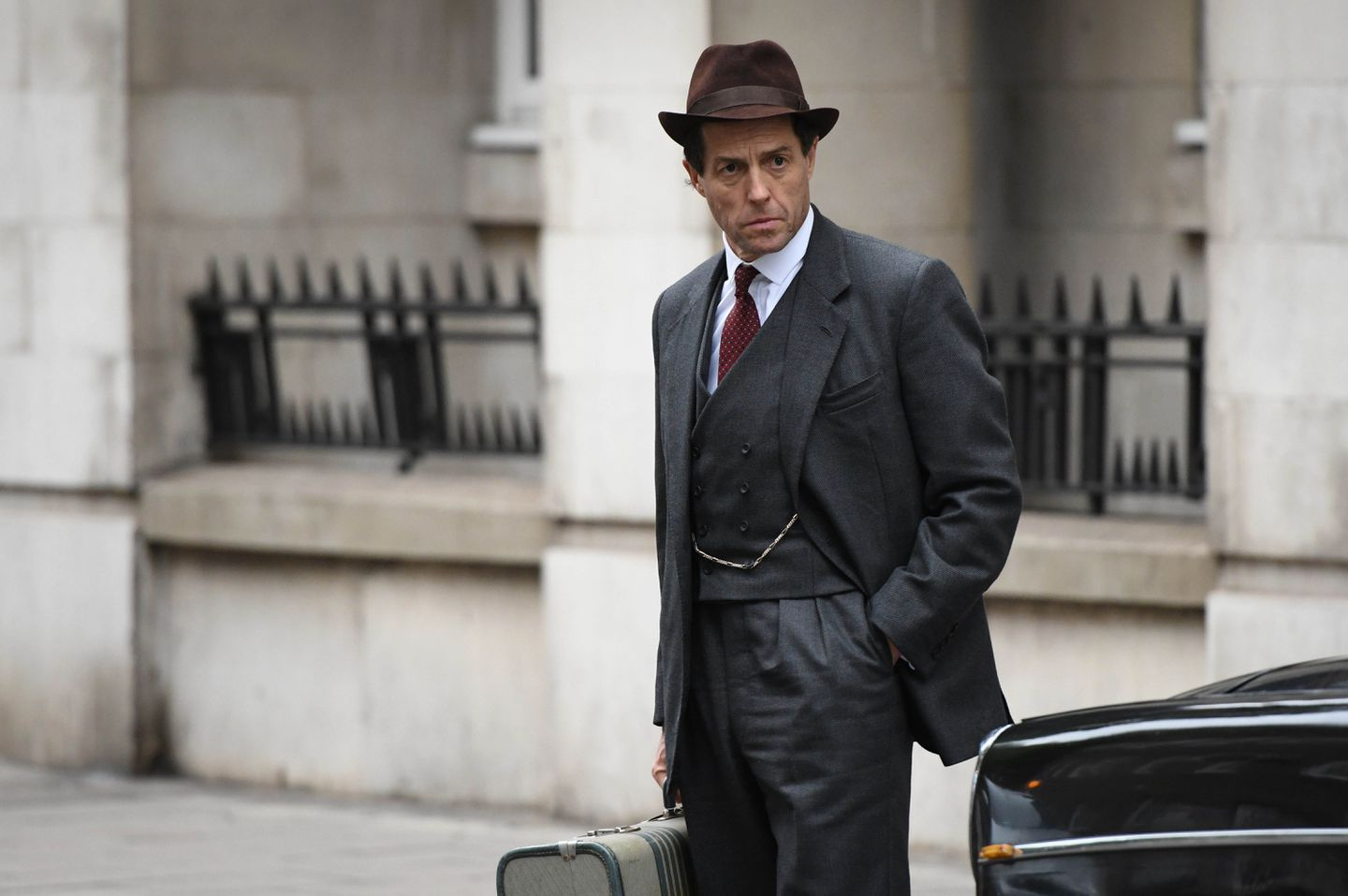 "Hugh Grant as British MP Jeremy Thorpe in Amazon's ""A Very English Scandal."""