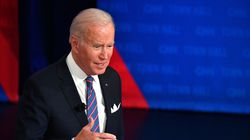 US President Joe Biden participates in a CNN town hall at Baltimore Center Stage in Baltimore, Maryland on October 21, 2021.