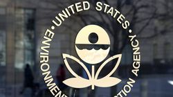 The US Environmental Protection Agency's (EPA) logo is displayed on a door at its headquarters on March 16, 2017 in Washington, D.C.