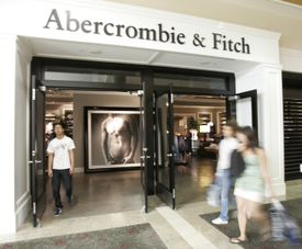 Abercrombie & Fitch is saying goodbye to the shirtless beefcake models who greeted customers at its doors.