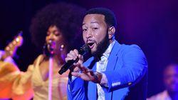 John Legend performs at the Orpheum Theatre Sunday night.