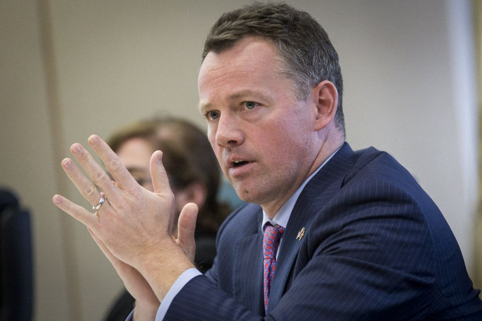 Brian Shortsleeve, the MBTA's chief administrator, spoke during a fiscal control board meeting in Boston on Monday.