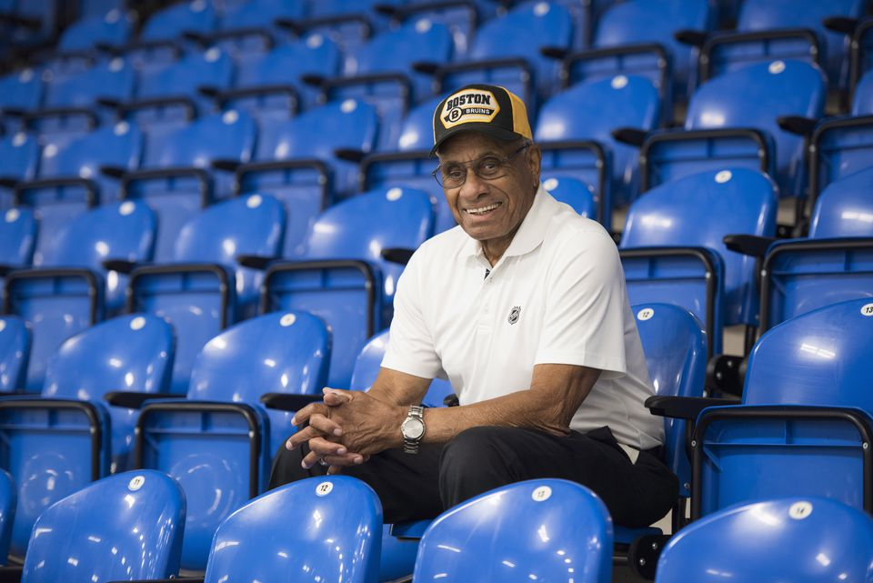 Though he played only 45 NHL games, Willie O'Ree chooses not focus on the fact his career was kept short in part because of his skin color.