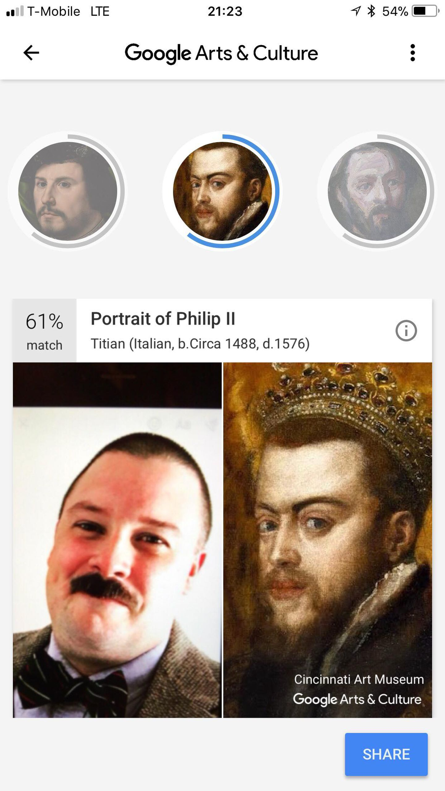 Google Arts Face Painting Match