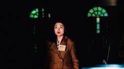 "Soprano Bizhou Chang as Maria in Guerilla Opera's ""ELLIS."""