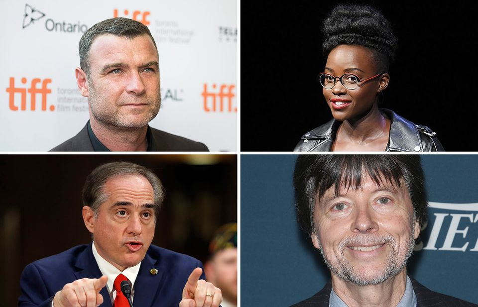 From left to right, top to bottom: Liev Schreiber, Lupita Nyong'o, David Shulkin, and Ken Burns.