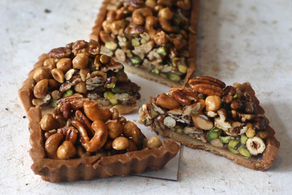 Mixed nut tart at Tatte