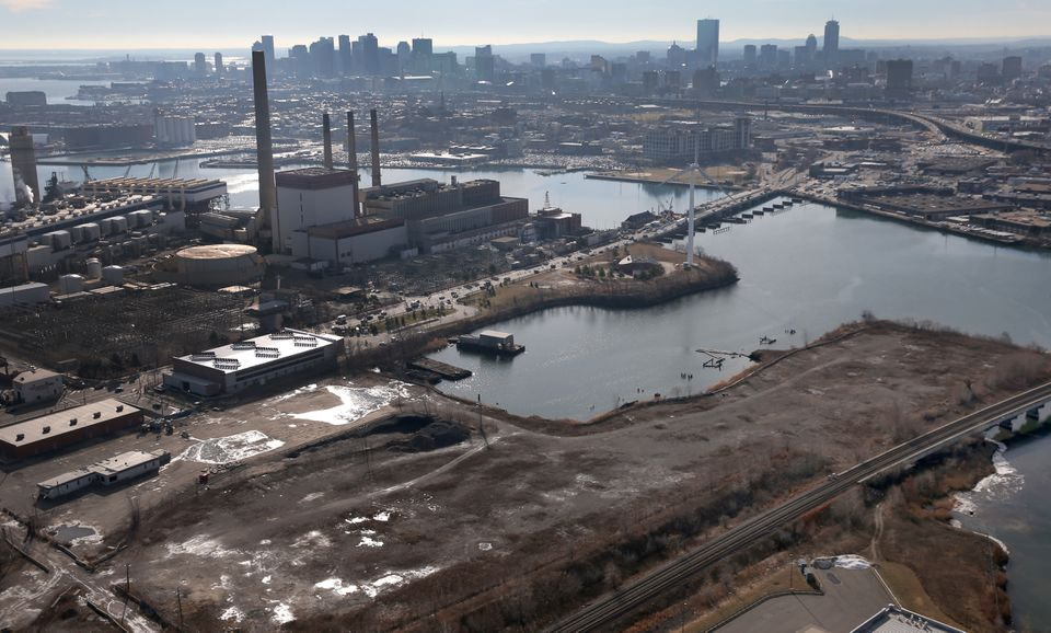 The site for the planned Everett casino.