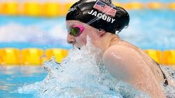 Lydia Jacoby competed in the Women's 100m Breaststroke Final Tuesday at the Tokyo Aquatics Centre.