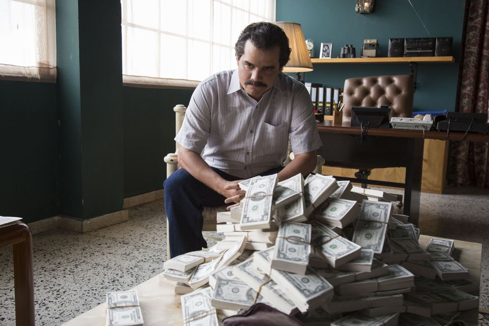 """Wagner Moura as Pablo Escobar in the Netflix series """"Narcos."""""""