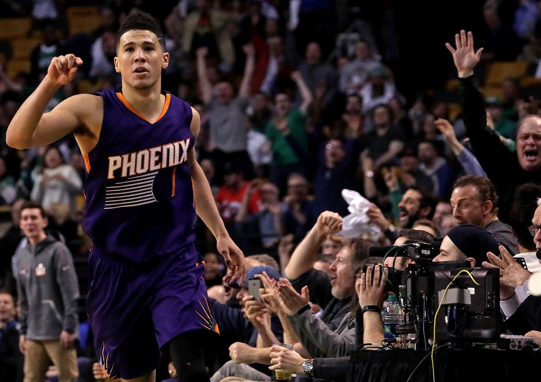 1d0a6fba6a60 An off-balance 3-pointer by Phoenix Suns guard Devin Booker brought the TD