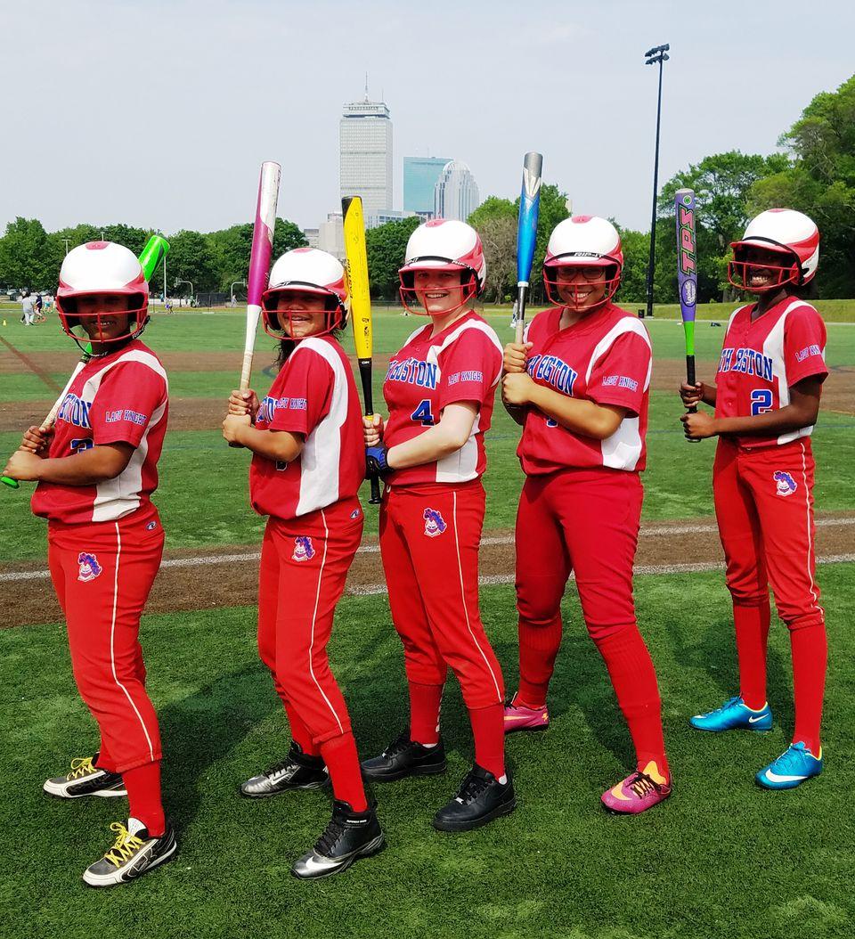 Dream Big provided softball equipment for the South Boston High team.