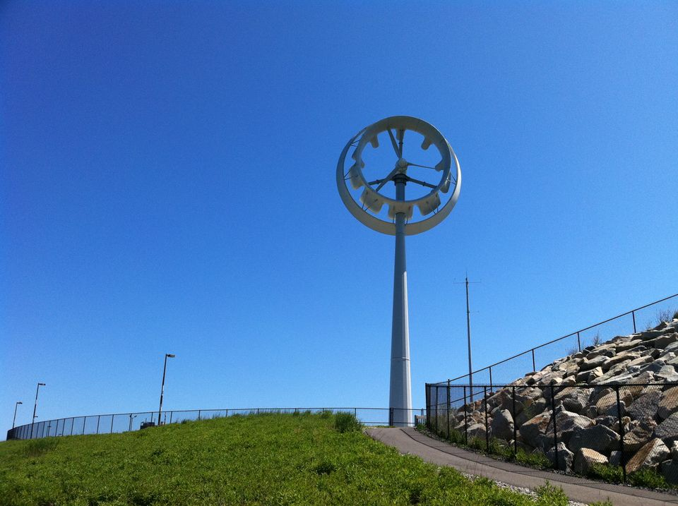 Ogin Inc., previously FloDesign Wind Turbine, in 2011 installed a windmill on Deer Island, to supply power to the water treatment plant there. It's no longer in operation.