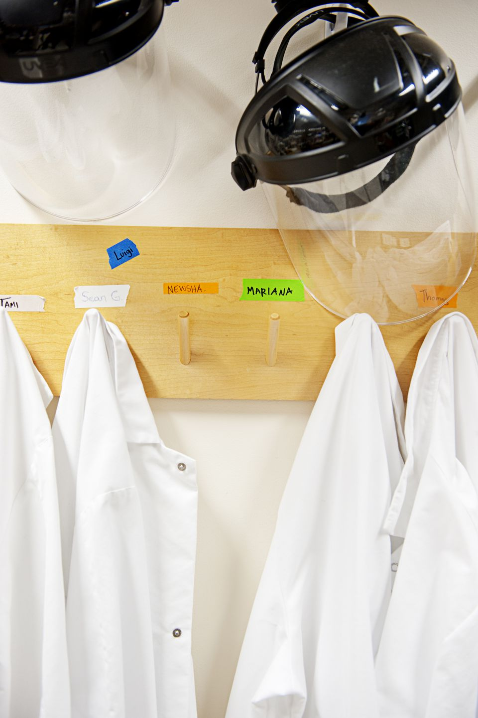 Analyzing sewage requires gear for biohazard protection.