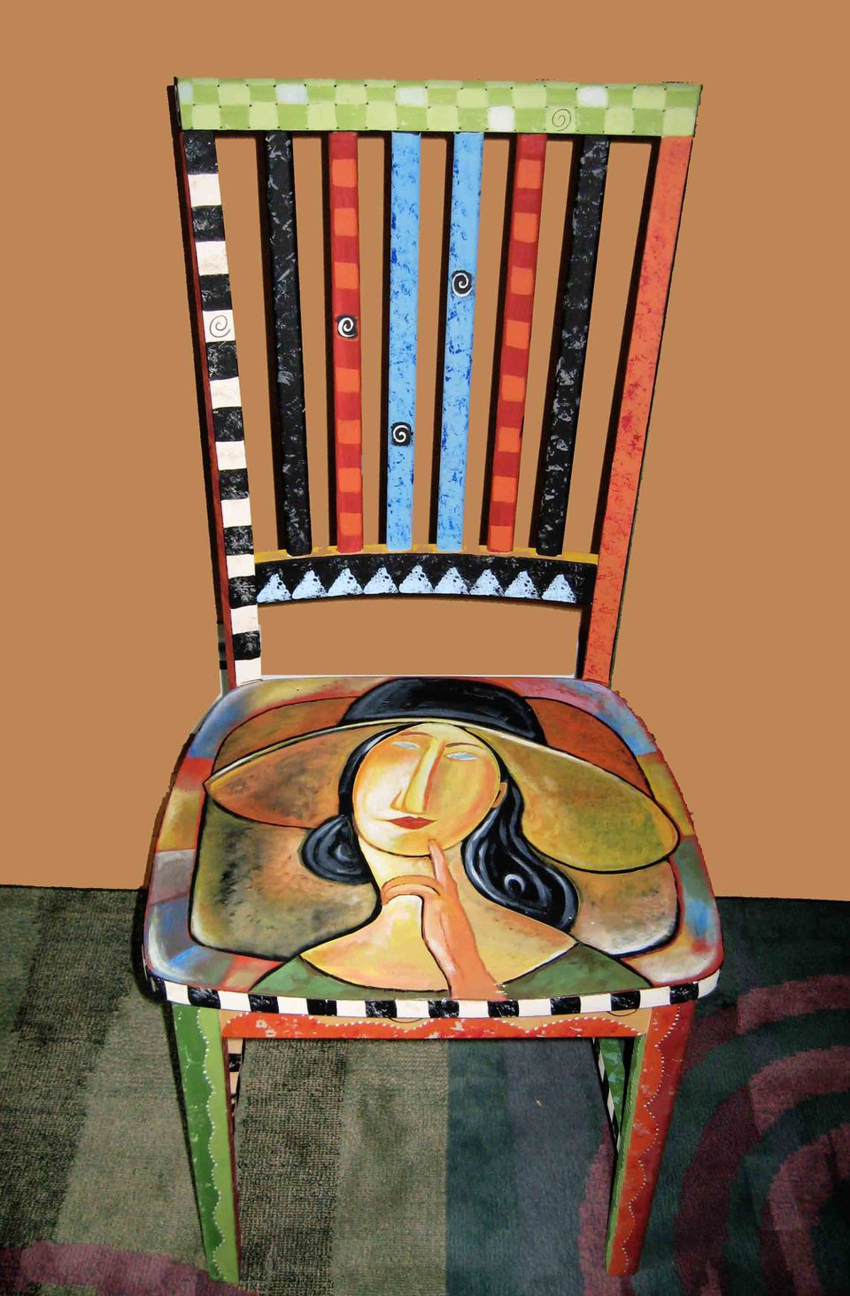 """Ciao Bella"" side chair by Linda Jacque."