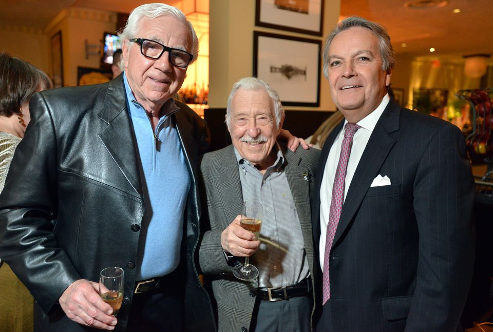 Mr. Taylor with Boston radio personality Ron Della Chiesa (left) and David Colella of the Colonnade Hotel at the 2017 party.