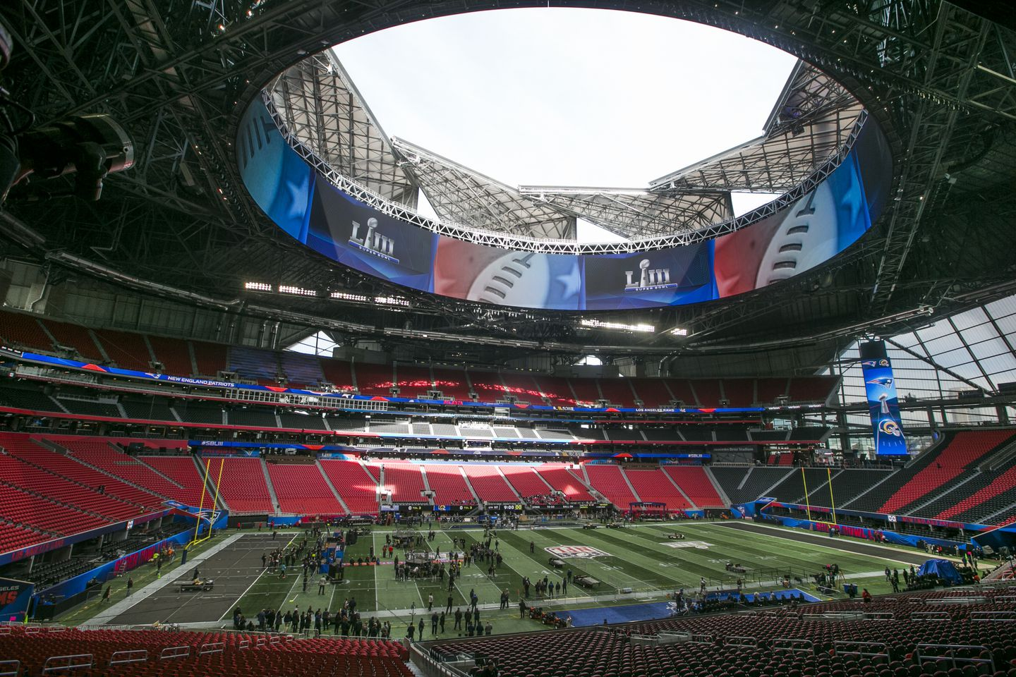 Here S The Plan For The Mercedes Benz Stadium Roof During The Super Bowl The Boston Globe