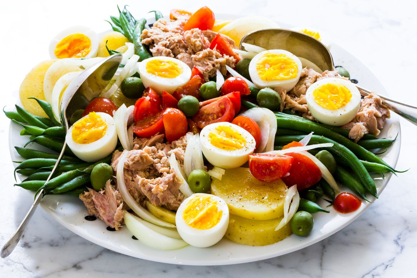 Recipe Spanish Tuna Salad With Tomatoes Eggs Olives And