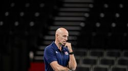 United States' head coach John Speraw during a men's volleyball preliminary round pool B match between Brazil and United States.