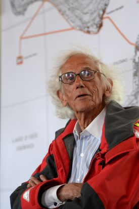 """""""Our projects do not involve this antiseptic space, says Christo. """"It's not a screen. It's not a photograph. It's real wind, the real cold. All of this is why we love to do these projects, because they're so physical."""""""