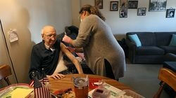 Patrick Andreottola, 101, got a shot late last month at his home from a Medford public health nurse.