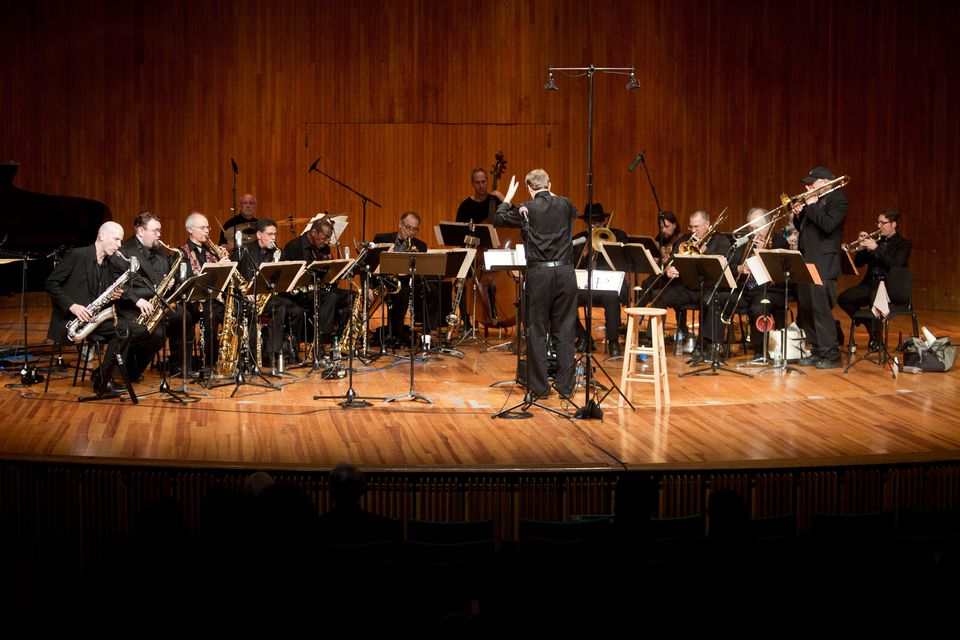 Aardvark Jazz Orchestra's Saturday concert made reference to many of the noteworthy jazz performances that have taken place at MIT through the years.