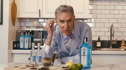 """Bill Nye says """"in the summertime especially, there's nothing like a good, or perhaps, great gin and tonic."""""""