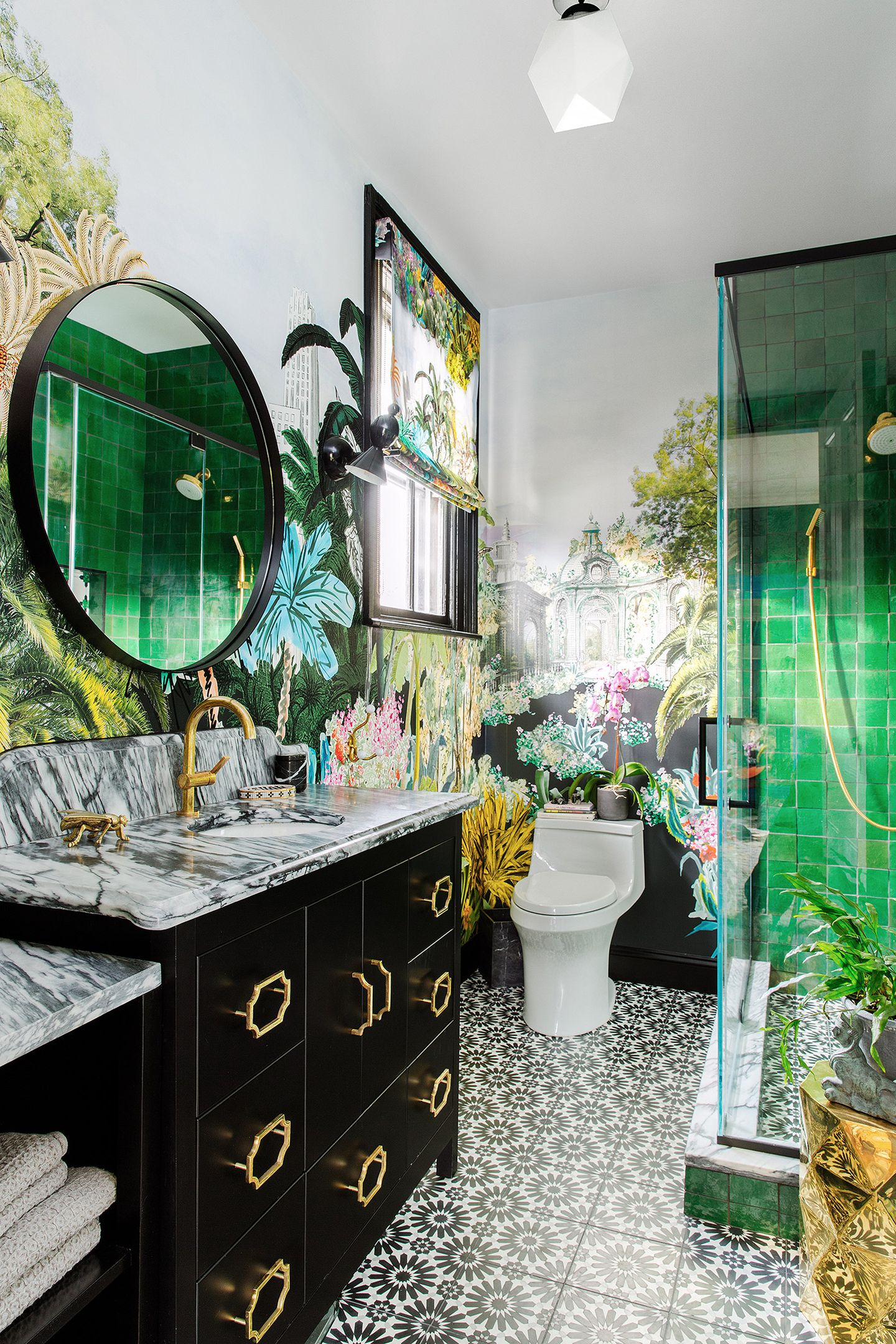 Drawing Inspiration From Her Honeymoon A Designer Gives Her Master Bathroom A Bold Update The Boston Globe