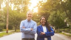 Former secretary of state Matt Brown, left, is running for governor, and state Senator Cynthia Mendes is running for lieutenant governor atop a slate of RI Political Cooperative candidates.
