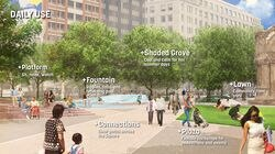 A rendering of the planned redesign of Boston's Copley Square.
