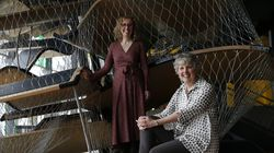 """From left: Melissa Higgins, Boston Children's Museum's senior director of STEAM, and Carole Charnow, museum president and CEO. """"This wasn't going to be a permanent closure,"""" Charnow said, """"but it gave us a few extra months to try to really rethink how we operate."""""""