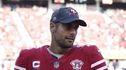 49ers quarterback Jimmy Garoppolo injured his calf against Seattle Oct. 3.
