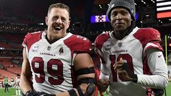 J.J. Watt and DeAndre Hopkins were all smiles after another Arizona win, this one in Cleveland against the Browns. The Cardinals are the NFL's last unbeaten at 6-0.