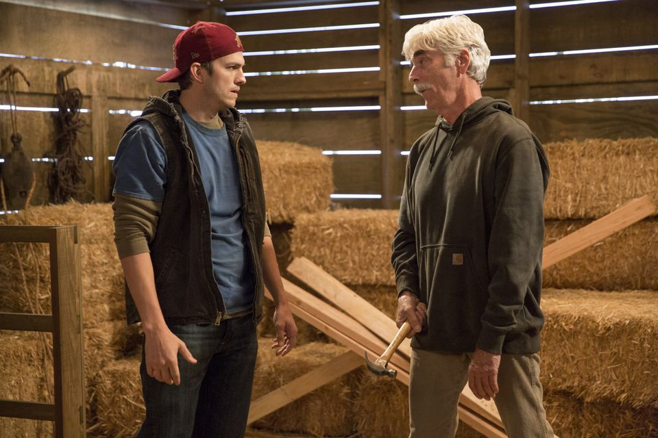 "Ashton Kutcher and Sam Elliott in ""The Ranch."""
