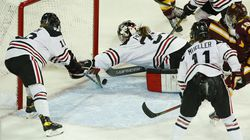 Northestern goalie Aerin Frankel, the reigning Patty Kazmaier Award winner, will be back in the Huskies' net this season after she was not selected to the US team's centralization roster.