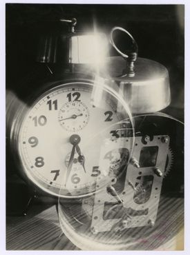 """Werner David Feist's """"Alarm Clock"""" is one of 92 photographs in """"Arresting Fragments."""""""